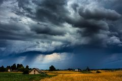 Image of storm cloud taken in Lithuania. Image of aproaching storm cloud taken in Lithuania royalty free stock photo