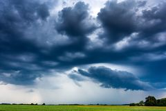 Image of storm clouds at summer royalty free stock image