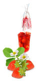 Image of strawberry cocktail and strawberries Stock Photos