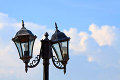An image of street light on blue sky Stock Images