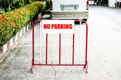 Image of a street sign no parking Stock Photography