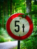 Image of street sign with weigh warning royalty free stock image
