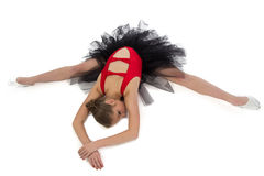 Image of stretching girl with arms crossed Stock Photo