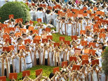 An image of students at graduation ceremony. At Khon Kaen University Thailand Stock Photo