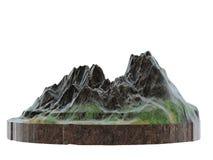 Image stylisée d'une arête de montagne sur un fond blanc d'isolement illustration 3D images stock