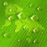 Image stylisée de carte sur un plan rapproché vert de feuille illustration stock