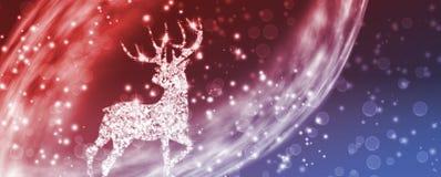 image stylisée de plan rapproché de cerfs communs de Noël illustration libre de droits