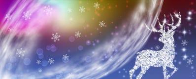 image stylisée de plan rapproché de cerfs communs de Noël illustration de vecteur