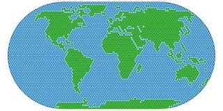 Image stylisée de vecteur de balayage de carte du monde Globe plat Image libre de droits