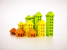 Image of stylized real estate graph Stock Photo