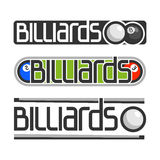 The image on the subject of billiards. The abstract image on the subject of billiards Stock Photo
