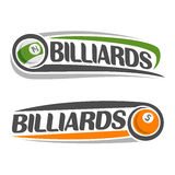 The image on the subject of billiards Royalty Free Stock Photo