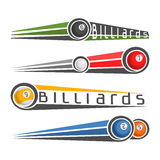 The image on the subject of billiards Stock Images