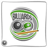 The image on the subject of billiards Royalty Free Stock Photography