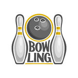 Image on the subject of bowling Royalty Free Stock Images