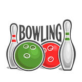Image on the subject of bowling Royalty Free Stock Photography