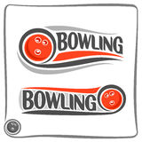 Image on the subject of bowling Royalty Free Stock Photos