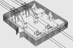 Image of substation place Royalty Free Stock Images