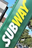 An image of a Subway logo - Bielefeld/Germany - 09/16/2017 stock image