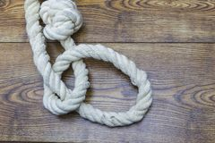 Image of suicide. depression. Old rope with hangman`s noose. Image of suicide. depression. Old rope with hangman`s noose Royalty Free Stock Photo
