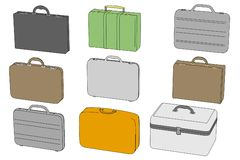Image of suitcases (luggages) Stock Photos