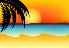 Image of a summer. The image of a summer tropical landscape Royalty Free Illustration