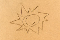 Image of the sun on the sand Royalty Free Stock Photography