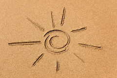 Image of the sun on the sand Royalty Free Stock Images
