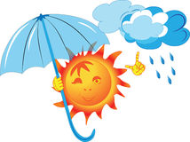 Image of the sun, which keeps the umbrella Royalty Free Stock Photography