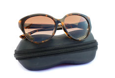 Image of sunglasses and black box Stock Image