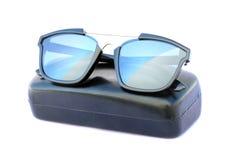 Image of sunglasses and black box Stock Photo