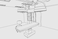 Image of surgery room Royalty Free Stock Image