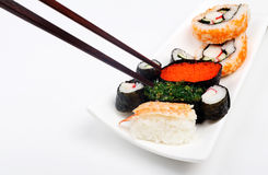 Image of sushi on white background Stock Images