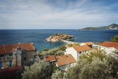 Sveti Stefan village island Royalty Free Stock Photos