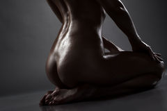 Image of swarthy elastic nude female ass Stock Photo