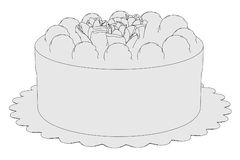 Image of sweet cake Royalty Free Stock Image