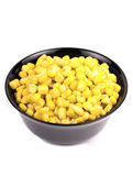 Image of sweet corn in a black bowl Stock Photography