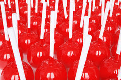 Image of sweets for the holiday. 3d illustration. Of candy on a stick Stock Images
