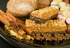 image of sweets for tea closeup Royalty Free Stock Photos