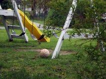 Abandonned Swing Set stock photography