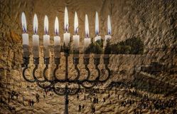 The image symbolizes Hanukkah Holiday and Jewish desires and hopes Royalty Free Stock Image