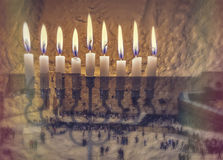 The image symbolizes Hanukkah Holiday and Jewish desires and hopes Royalty Free Stock Images
