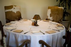 An image of a table setting Stock Photography