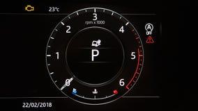 Image tachometr de tout neuf de voiture Photo stock