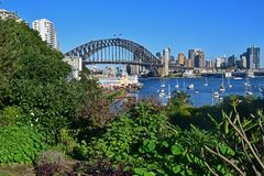 Taken from man made Wendy Secret Garden, view of Sydney Harbour Bridge and Luna Park Sydney