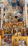 Inside a cretan orthodox church Stock Photo