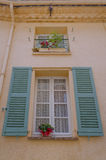 Traditional french window and shutters Royalty Free Stock Photo