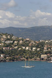 french riviera sea and coast Royalty Free Stock Photography
