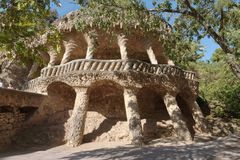 Park Guell garden in Barcelona, Spain. Royalty Free Stock Photo