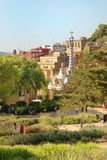 Park Guell garden in Barcelona, Spain. Royalty Free Stock Image